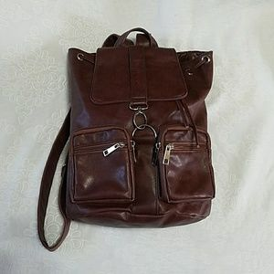 Juicy Faux Leather Backpack